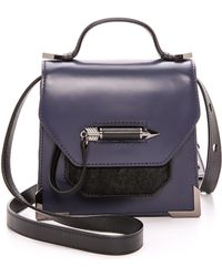 Mackage Haircalf Rubie Mini Bag Indigo and Black - Lyst