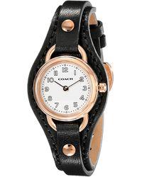 Coach Dree Leather Strap Watch - Lyst