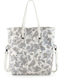 Halston Heritage North-South Printed Leather Tote Bag - Lyst