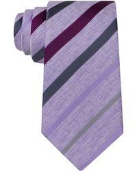 Kenneth Cole - Silk Stripe Tie - Lyst