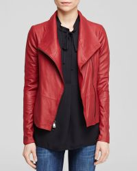 Vince Jacket - Leather Scuba - Lyst