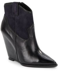 Ash Jude Leather Wedge Ankle Boots - Lyst
