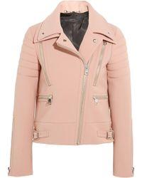 Gucci Wool-Crepe Biker Jacket - Lyst