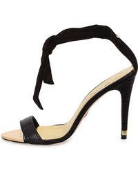 Ted Baker Sackina Suede Combo Tie Sandal - Lyst