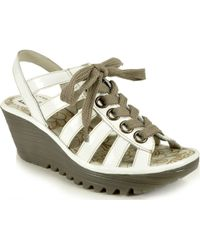 Fly London Yito - Patent Leather Sandal - Lyst