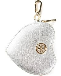 Tory Burch Heart Coin Case Key Fob - Lyst