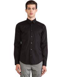 Vince Black Poplin Shirt - Lyst