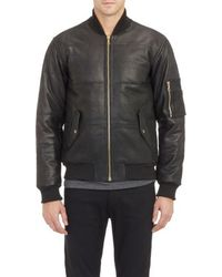 Surface To Air Brodinski Leather Puffer Jacket - Lyst