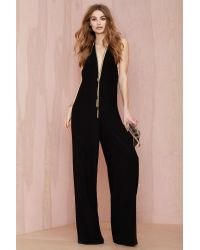 Nasty Gal Solace Rossi Stretch Crepe Jumpsuit - Lyst
