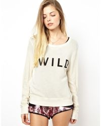 Wildfox Sweatshirt with Wild Print - Lyst