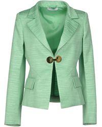 Versace Blazer green - Lyst