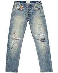 Paul Smith Men'S Tapered-Fit 'Tear And Repair' Japanese Selvedge Jeans blue - Lyst