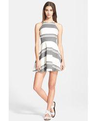 Elizabeth And James 'Magdalena' Stripe Fit & Flare Dress - Lyst