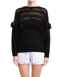 JOA | Knit Pullover With Fringe | Lyst