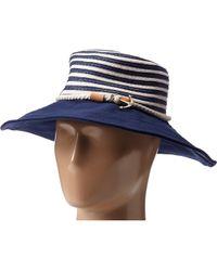 Sperry Top-Sider Stripe Floppy Hat W Canvas Brim - Lyst