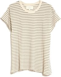 The Great The Boxy Crew Tee beige - Lyst