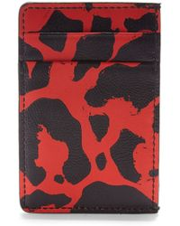 Alexander McQueen Printed Leather Card Case - Lyst