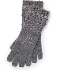 Pink Pony - Knit Metallic-thread Gloves - Lyst