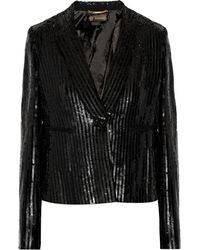 Versace Sequined Crepe Blazer - Lyst