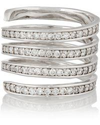 Lynn Ban - Coil Sterling Silver Diamond Ring - Lyst