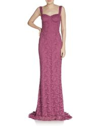 Dolce & Gabbana Lace Bustier Gown - Lyst