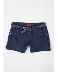 Boom Boom Jeans - Island In The Fun Shorts In Dark Wash - Lyst