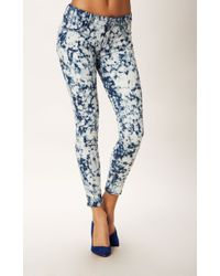 Mother Denim Looker Ankle Bleach Skinny Jean - Lyst