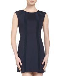 Nanette Lepore Sleeveless Round Striped Dress - Lyst