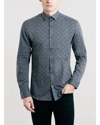 Topman Selected Homme Grey Shirt - Lyst
