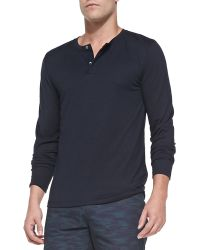 Theory Billy H Long Sleeve Henley - Lyst