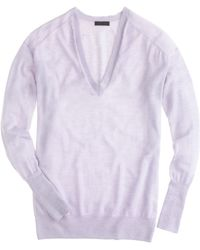 J.Crew Collection Featherweight Cashmere Vneck Sweater - Lyst