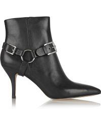 MICHAEL Michael Kors Harrison Leather Ankle Boots - Lyst