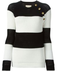 Laneus Striped Sweater - Lyst