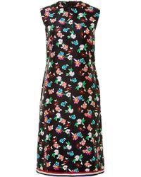 Thom Browne Floral-Print Silk-Twill Dress - Lyst