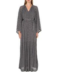 Missoni Crochetknit Maxi Dress Blue - Lyst