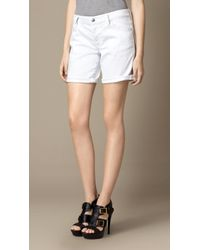 Burberry Low-Rise Denim Shorts - Lyst