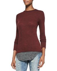 Iro Shura Sweater with Flannel Hem - Lyst