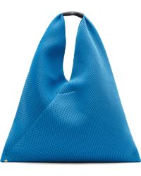 Maison Martin Margiela Blue Mesh Cross Shopper Tote - Lyst