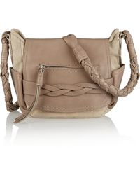Isabel Marant Perry Suede And Leather Shoulder Bag - Lyst