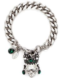 Alexander McQueen | Swarovski Crystal Royal Skull Bracelet | Lyst