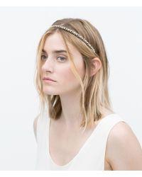 Zara Elastic Crystal Hairband multicolor - Lyst