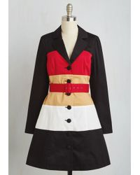 ModCloth | Colorblock Your World Coat | Lyst