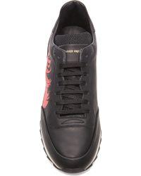 Alexander McQueen Men'S Feather Leather Sneakers - Lyst