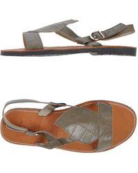 Virreina Khaki Sandals - Lyst