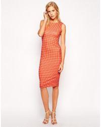 Love Gigham Midi Dress - Lyst