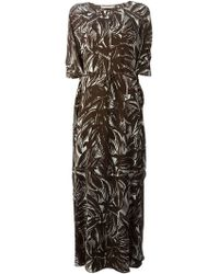 Tory Burch Coconut Tabora Silk Dress - Lyst