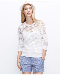 Ann Taylor Petite Open Stitch Sweater - Lyst