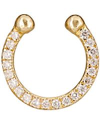 Ileana Makri Thread Septum Ring in Metallics N8BSJ0O