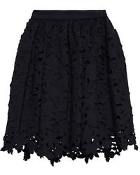 MSGM Laser Cut Swing Skirt - Lyst