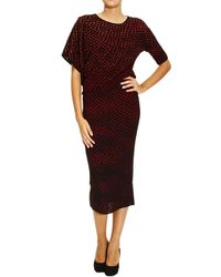 M Missoni Dress Sleeve 34 Mesh Jaquard Fantasy - Lyst